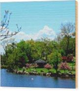 Japanese Gardens In Spring Wood Print
