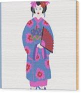Japanese Girl Wood Print