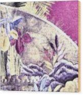Japanese Iris - Kimono Series Wood Print