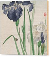 Japanese Irises Wood Print