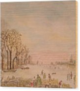 Japanese Light In Remembrance Of Aert Van Der Neer Wood Print