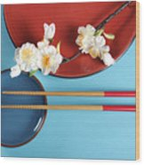 Japanese Oriental Place Setting Wood Print