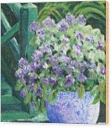 Japanese Pot At Monets Home Wood Print