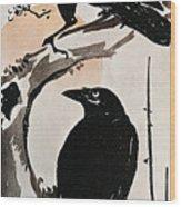 Japanese Print: Crow Wood Print