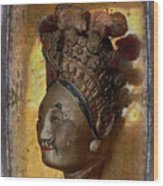 Japanese Puppet Head Single Wood Print