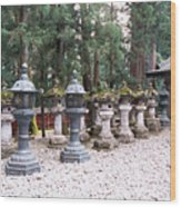 Japanese Stone Lanterns Wood Print