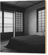 Japanese Style Room At Manago Hotel Wood Print