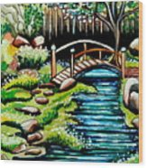 Japanese Tea Gardens Wood Print