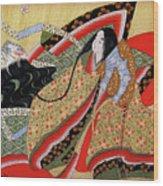 Japanese Textile Art Wood Print