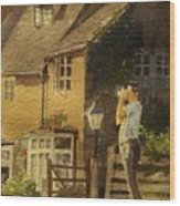 Japanese Tourist In England Wood Print