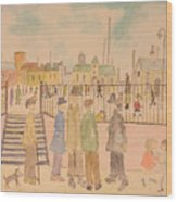 Japanese Whispers In Respect Of Lowry Wood Print