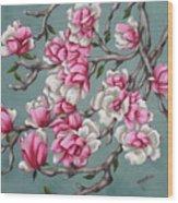 Japenese Magnolia Wood Print