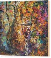 Jar Of Wine Wood Print