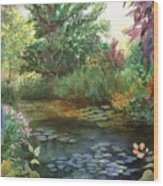 Jardin Giverny Wood Print