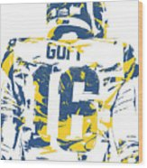 Jared Goff Los Angeles Rams Pixel Art 2 Wood Print
