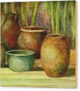 Jars Basking Wood Print