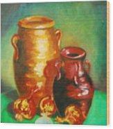 Jars Wood Print by Matthew Doronila