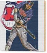 Jason Kipnis Cleveland Indians Oil Art Wood Print