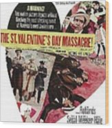 Jason Robards As Al Capone Theatrical Poster The St. Valentines Day Massacre 1967  Wood Print