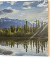 Jasper Glory Rocky Mountain View Wood Print