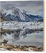 Jasper Medicine Lake Reflections Wood Print