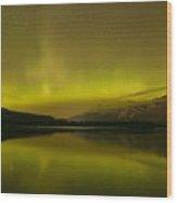 Jasper National Park Aurora Borealis Wood Print