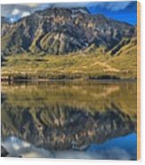 Jasper Pyramid Lake Reflections Wood Print