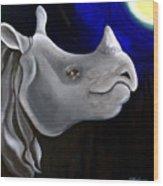Javan Rhino Wood Print