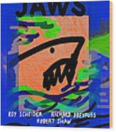 Jaws Poster  Wood Print