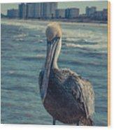 Jax Beach  Wood Print