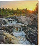 Jay Cooke Fall Sunset Wood Print