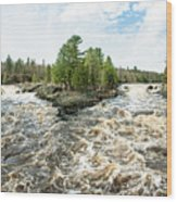 Jay Cooke State Park River Wood Print