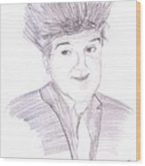 Jay Leno Hair Day Wood Print