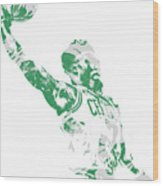Jaylen Brown Boston Celtics Pixel Art 11 Wood Print