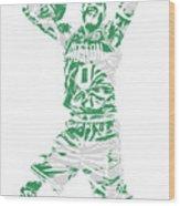 Jayson Tatum Boston Celtics Pixel Art 11 Wood Print