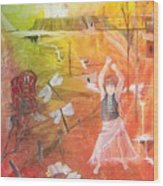 Jayzen - The Little Gypsy Dancer Wood Print
