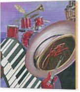 Jazz At Sunset Wood Print