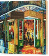 Jazz At The Maison Bourbon Wood Print by Diane Millsap