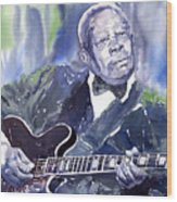Jazz B B King 01 Wood Print