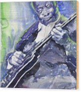 Jazz B B King 02 Wood Print