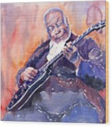Jazz B.b. King 03 Wood Print