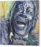 Jazz B.b.king 04 Blue Wood Print