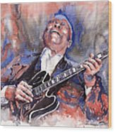 Jazz B B King 05 Red A Wood Print