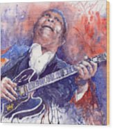 Jazz B B King 05 Red Wood Print