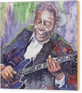 Jazz B B King 06 Wood Print