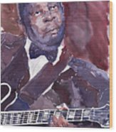 Jazz B B King Wood Print