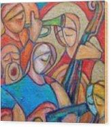 Jazz Ballad Wood Print
