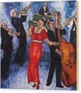 Jazz Band Wood Print