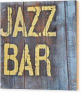 Jazz Bar Wood Print by Keith Sanders