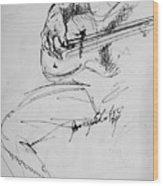 Jazz Bass Guitarist Wood Print
